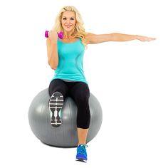Stability+Ball+Balance+Curl