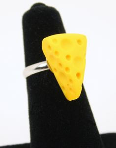Green Bay Packers Cheese Wedge RING Superbowl. $8.00, via Etsy.