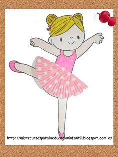 Manualidades -Bailarina con vestido de papel