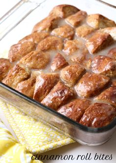 Super simple and delicious Cinnamon Roll Bites - looks so easy!