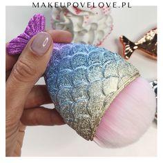 Mermaid Syrenka Pędzelek do makijażu kolorowy #makeupovelove #pędzelek #makeupbrushes #mermaid #syrenka