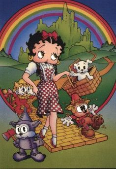 Betty Boop, Bimbo and Pudgy Wizard of Oz pictures Popular Cartoons, Famous Cartoons, Wizard Of Oz Pictures, Imagenes Betty Boop, Betty Boop Cartoon, Cartoon Girls, Animated Cartoon Characters, Betty Boop Pictures, Favorite Cartoon Character