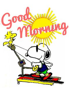 Snoopy Valentine's Day, Good Morning Snoopy, Good Morning Happy Monday, Happy Monday Quotes, Snoopy And Woodstock, Good Morning Quotes, Morning Gif, Sunday, Snoopy Quotes