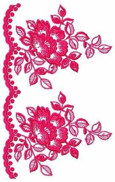 PEROLASFAMILYBORDADO - Melinterest Brasil Brush Embroidery, Border Embroidery, Crewel Embroidery, Embroidery Patterns, Heirloom Roses, Free Machine Embroidery Designs, Applique, Creative, Fabric