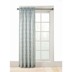 Shop Style Selections Jana 84 In L Mineral Rod Pocket Sheer Curtain At  Lowes.