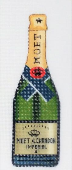 Moet Chandon, Hand Painted Canvas, Liquor Bottles, Gift Certificates, Things To Buy, All Design, Needlepoint, Holiday Gifts, Champagne