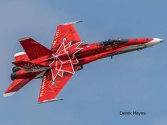 CF-18 painted in honour of Canada's 150th anniversary.