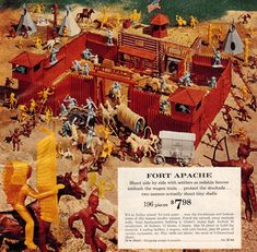 Toys you totally forgot you had growing up in the 1960s: 7. Marx's Fort Apache Set  We couldn't wait to re-enact our favorite Westerns with this classic set.