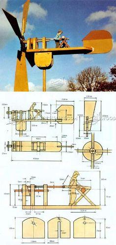 Whirligig Plans - Outdoor Plans and Projects | WoodArchivist.com #WoodworkingPlans #woodworkingtips