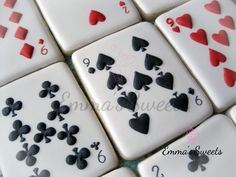 Decorated Sugar Cookies | Royal Icing | Deck of Cards Cookies | Card Game / Party