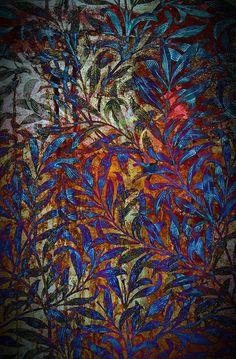 Gypsy Interior Design Dress My Wagon| Serafini Amelia| Art Quilt-Beautiful colours, trailing leaves