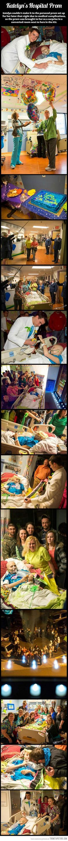 She couldn't make it to the prom, so the prom was brought to her…Faith in humanity restored.