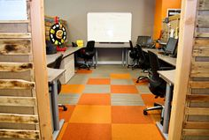 Gala Corporation - in CA #smalloffice #commercialspaces #commercialinteriors #design #flooring