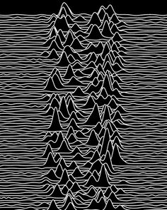 "Pulsars are neutron stars that are formed from the remnants of a massive star when it experiences stellar death. A hand drawn graph plotted in the style of a waterfall plot, in the Cambridge Encyclopedia of Astronomy, later became renown for its use on the cover of the album ""Unknown Pleasures""  by 1970s English band Joy Division."