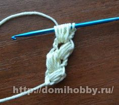 "Crochet string ""spike"" crochet lush string columns until the desired length. Crochet Chocker, Crochet Cord, Crochet Bracelet, Freeform Crochet, Irish Crochet, Crochet Lace, Crochet Flower Headbands, Crochet Flower Patterns, Crochet Stitches Patterns"