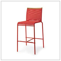 WEB model stool with coated metal frame and breathable and washable mesh fabric cover. #stool #mesh #kitchen #Calligaris
