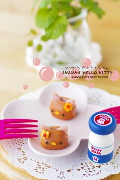Bento Idea: Sausage Hello Kitty for Kyaraben   #food #bento