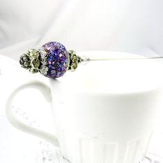 Lavender Stick Pin, Hat Pin, Hatpin, Victorian Jewelry, Scarf Pin, Lapel Pin, Silver, Stick Pin