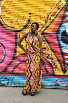 Pink Diamond African Print Maxi Dress via Etsy ~Latest African Fashion, African Prints, African fashion styles, African clothing, Nigerian style, Ghanaian fashion, African women dresses, African Bags, African shoes, Nigerian fashion, Ankara, Kitenge, Aso okè, Kenté, brocade. ~DKK