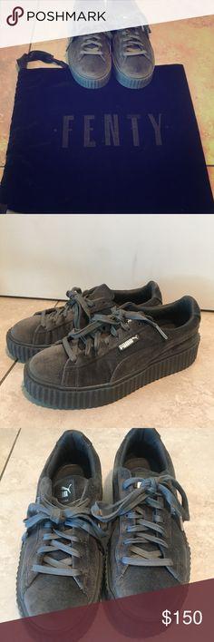 PUMA Fenty By Rihanna Velvet Sneakers ($150) ❤ liked on