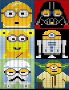Search results for: Minions Knitting charts - Herzlich willkommen Crochet Pixel, Star Wars Crochet, Graph Crochet, Minion Crochet, Crochet Geek, Crochet Stars, Crochet Amigurumi, Cute Crochet, Minions