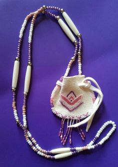 Beaded Medicine Bag~Blessing Waters Native Arts