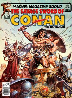 "Savage Sword of Conan #90, ""Devourer of Souls!"" (July, 1983). Cover by Earl Norem."
