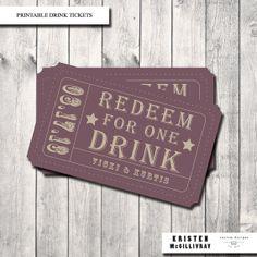 Drink Ticket design inspiration