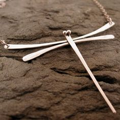 Delicate Sterling Silver Dragonfly Necklace Modern Jewelry Contemporary Designs by SARANTOS on Etsy, $95.00