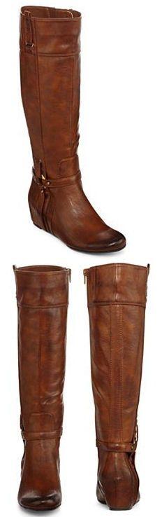 Izod Cognac Wedge Boots ♥