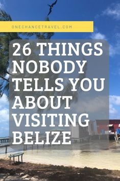 """Things nobody tells you before you travel to Belize, including how to avoid the """"sleeping policemen"""", money handling, and more. Belize Honeymoon, Belize Vacations, Belize Resorts, Belize Travel, Belize Cruise Port, Vacation Travel, Italy Vacation, Beach Travel, Barbados"""