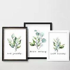 Micah 6v8   Set of 3 Botanical   Act justly, love mercy, walk humbly   printable