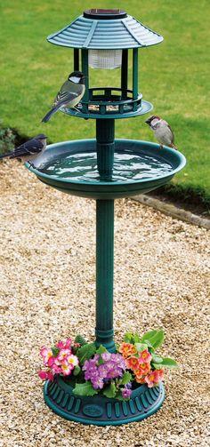 Solar Bird Feeder/Bath I like it! I want it!!!!