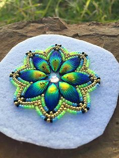 Native American freestyle beading...