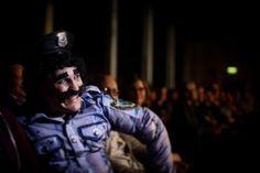 Boombox interrogating the audience...photo by joe lynn