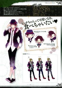 Tags: Scan, Character Sheet, IDEA FACTORY, Official Art, Satoi, Diabolik Lovers ~Haunted dark bridal~, Sakamaki Laito, Rejet, Diabolik Lovers Official Setting Collection