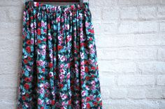 Designer SUMEER skirt  Floral print  skirt  Red by LALcouture, $65.00