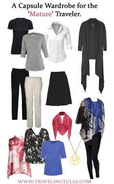 Capsule Travel Wardrobe for Woman Over 50 – Traveling Tulls Source by amyradewan fashion over 50 Capsule Wardrobe Women, Wardrobe Basics, Work Wardrobe, Professional Wardrobe, Wardrobe Ideas, Fall Travel Wardrobe, Vacation Wardrobe, Holiday Wardrobe, Capsule Outfits