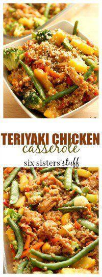 Teriyaki Chicken Casserole from SixSistersStuff.com