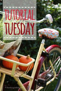 Was Hübsches fürs Hinterteil – damit dein Fahrradsattel trocken bleibt und auch noch schick aussieht – Fahrradsattelbezug-Tutorial - Hamburger Liebe