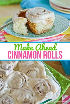 Make Ahead Cinnamon Rolls.  This is great for making one day and baking the following morning for fresh cinnamon rolls. #OnlyPhiladelphia #MyCreamCheese