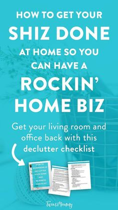 How to Manage Chores and Still Run a Booming Home Business – Looking to get more done in a day? You're a mom and you run a home business. But you have chores to do. You need productivity hacks. Here's how to get your shiz done plus grab my free declutter your home and biz checklist.