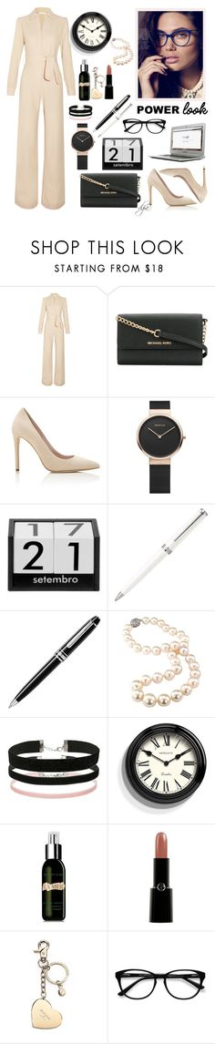 """""""Business woman"""" by dgia ❤ liked on Polyvore featuring Goat, Michael Kors, Montblanc, Miss Selfridge, Newgate, La Mer, Giorgio Armani, Aspinal of London and EyeBuyDirect.com"""