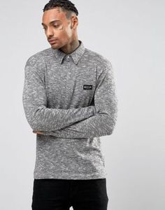 33a57cfd0 Nicce London - Polo en maille à manches longues. Long Sleeve ...