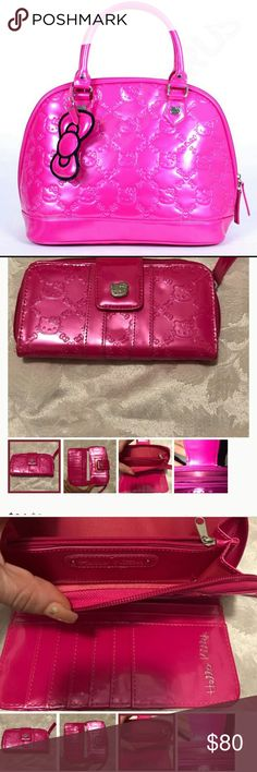Hello Kitty Set 🌸 purse wallet and change purse ❤ Bright Pink Hello Kitty Purse Wallet and Change Purse💕 Hello Kitty Bags