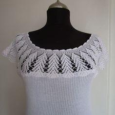 Top de encaje blanco para mujer de punto de algodón blusa de