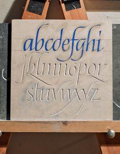 PlumTreeLetteringArts.: Italic alphabet.