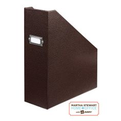 martha stewart home office stackfit shagreen magazine file brown staples boxes stack office file