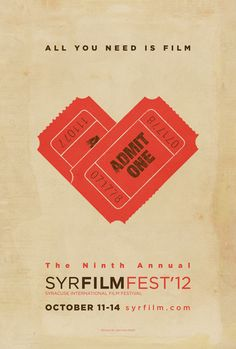 It's interesting to use ticket to create a heart, close to the poster's theme.