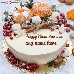 Christmas Cake Designs, Christmas Cake Decorations, Christmas Sweets, Christmas Cooking, Holiday Cakes, Pretty Cakes, Beautiful Cakes, Amazing Cakes, Cake Name